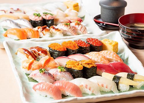 寿司食べ放題の雛鮨の厳選したネタ