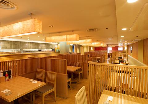 寿司食べ放題の雛鮨 西銀座デパート店の内観