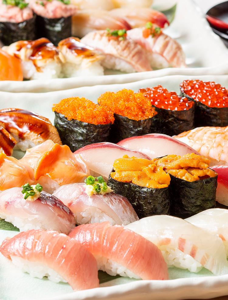 食べ放題で楽しめる寿司